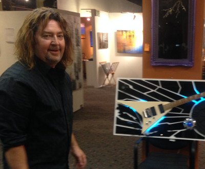 Contemporary Artist John Hoyt Creates Ultra Cool Guitar Art for Man Caves and Proper Establishments